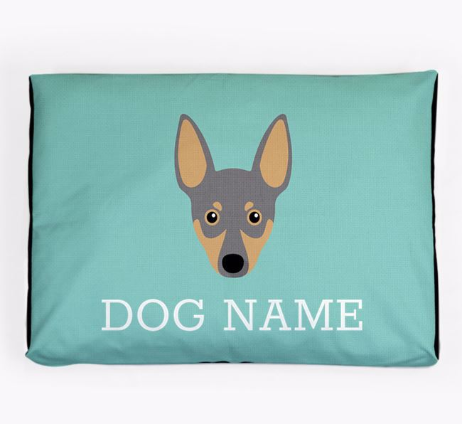Personalised Icon Dog Bed for your Miniature Pinscher