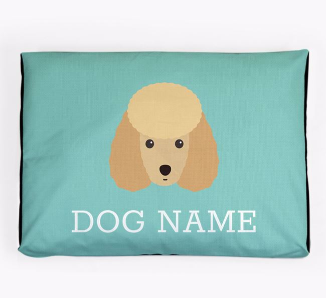 Personalised Icon Dog Bed for your Miniature Poodle