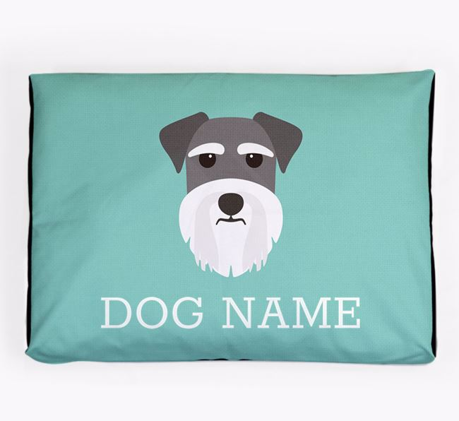 Personalised Icon Dog Bed for your Miniature Schnauzer