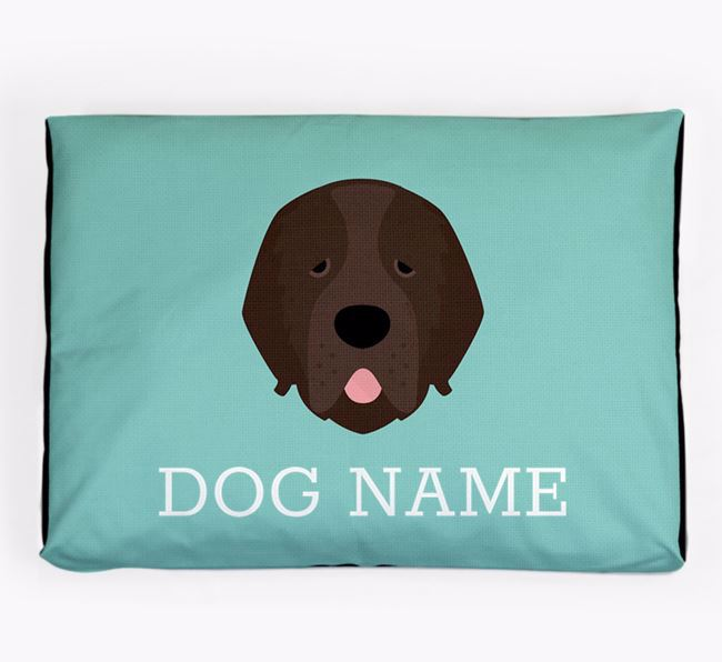 Personalised Icon Dog Bed for your Newfoundland