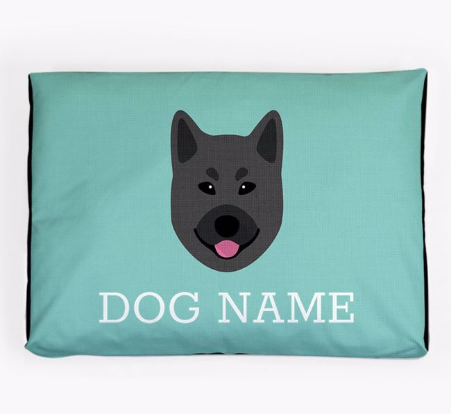 Personalised Icon Dog Bed for your Norwegian Buhund