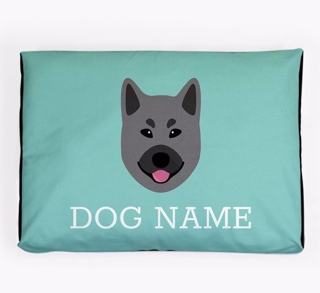 Personalised Icon Dog Bed for your Norwegian Elkhound