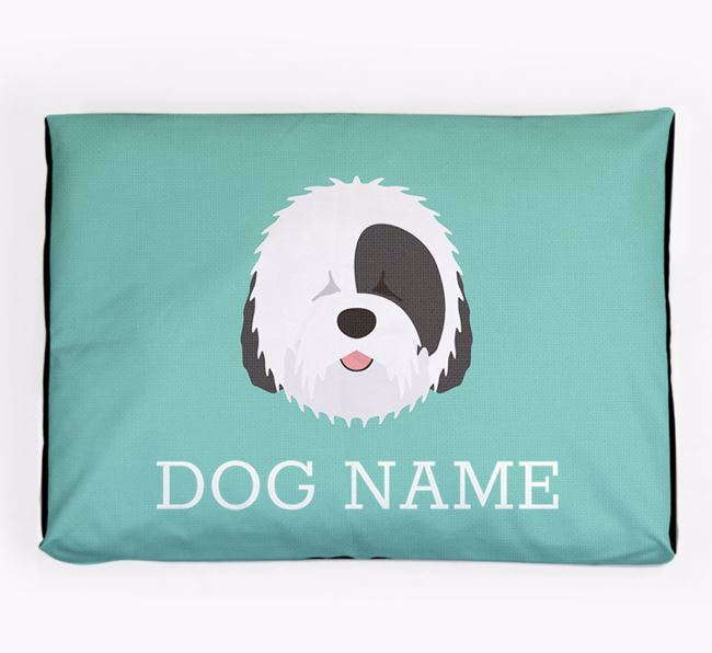 Personalised Icon Dog Bed for your Old English Sheepdog