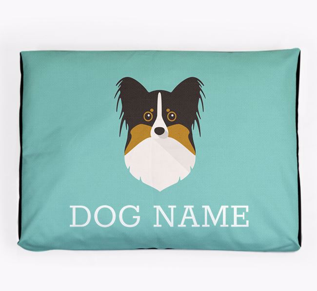 Personalised Icon Dog Bed for your Papillon