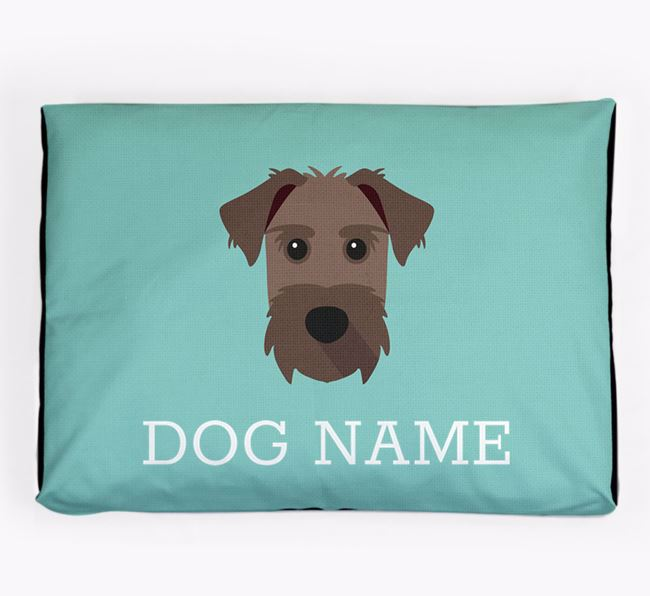 Personalised Icon Dog Bed for your Patterdale Terrier