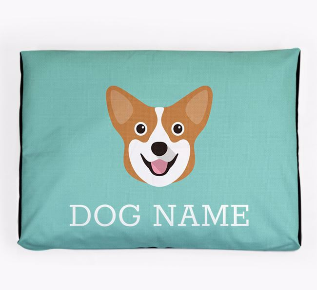 Personalised Icon Dog Bed for your Pembroke Welsh Corgi