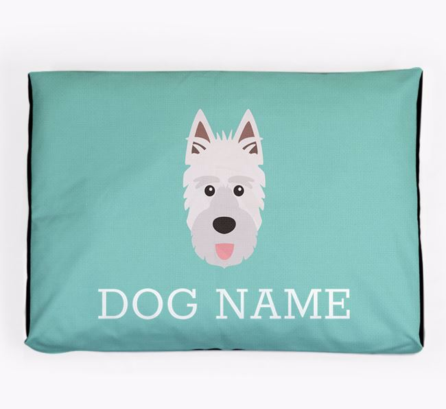 Personalised Icon Dog Bed for your Picardy Sheepdog