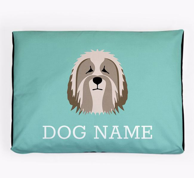 Personalised Icon Dog Bed for your Polish Lowland Sheepdog