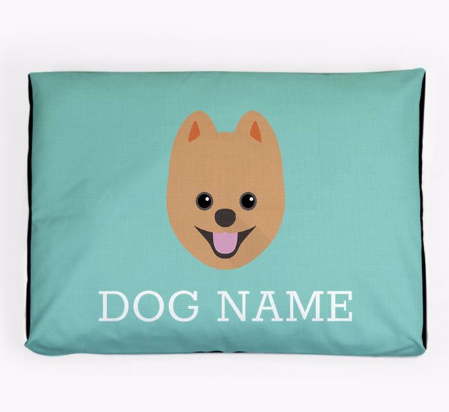 Personalised Icon Dog Bed for your Pomsky