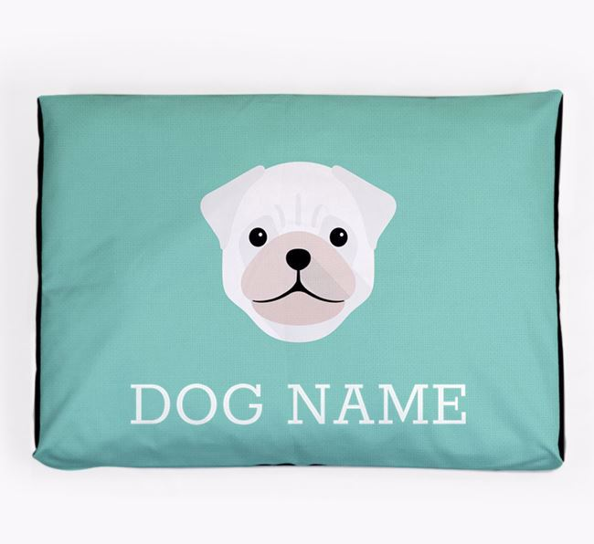 Personalised Icon Dog Bed for your Pug