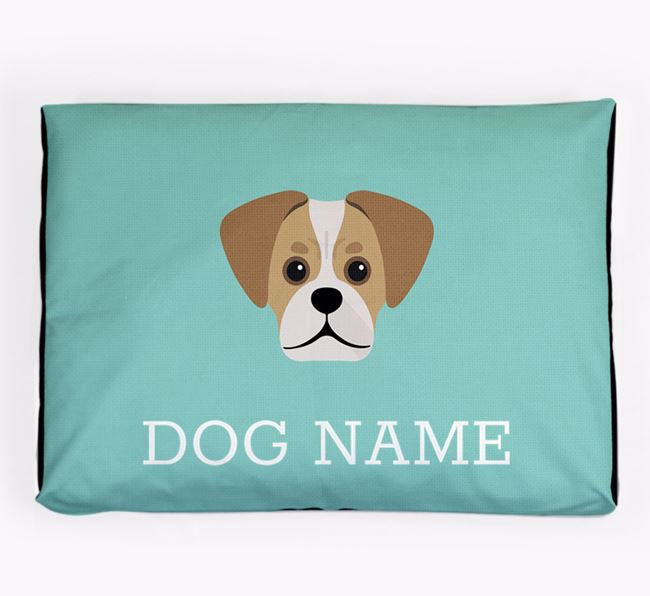 Personalised Icon Dog Bed for your Pugalier