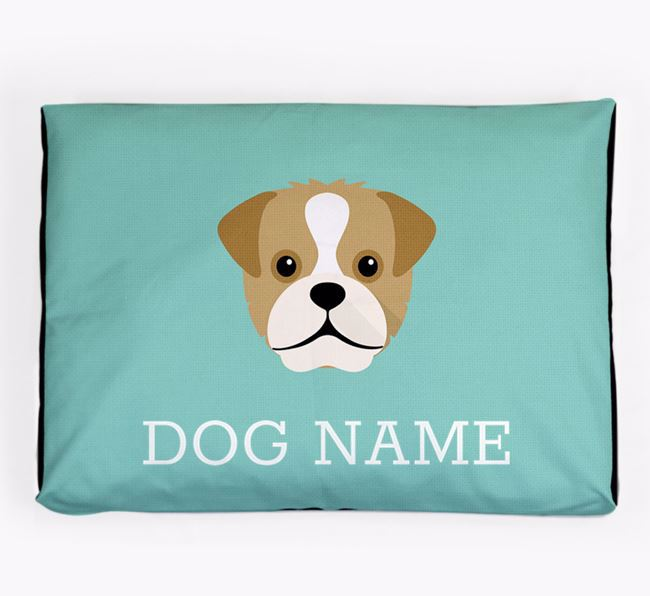Personalised Icon Dog Bed for your Pugapoo
