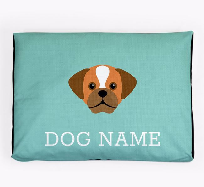 Personalised Icon Dog Bed for your Puggle