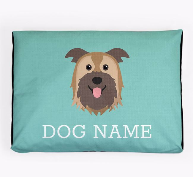 Personalised Icon Dog Bed for your Pyrenean Shepherd