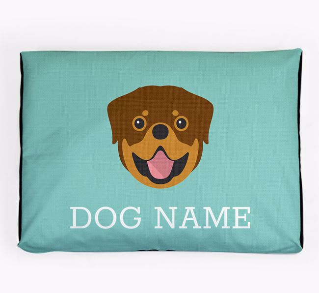 Personalised Icon Dog Bed for your Rottweiler