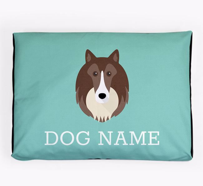 Personalised Icon Dog Bed for your Rough Collie
