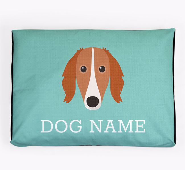 Personalised Icon Dog Bed for your Saluki