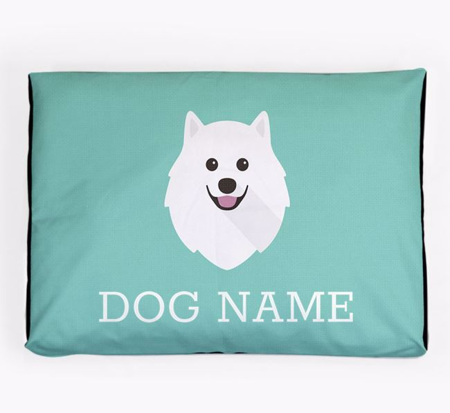Personalised Icon Dog Bed for your Samoyed