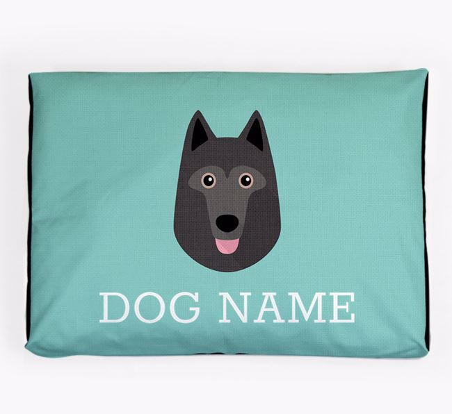 Personalised Icon Dog Bed for your Schipperke