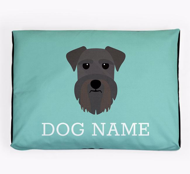 Personalised Icon Dog Bed for your Schnauzer