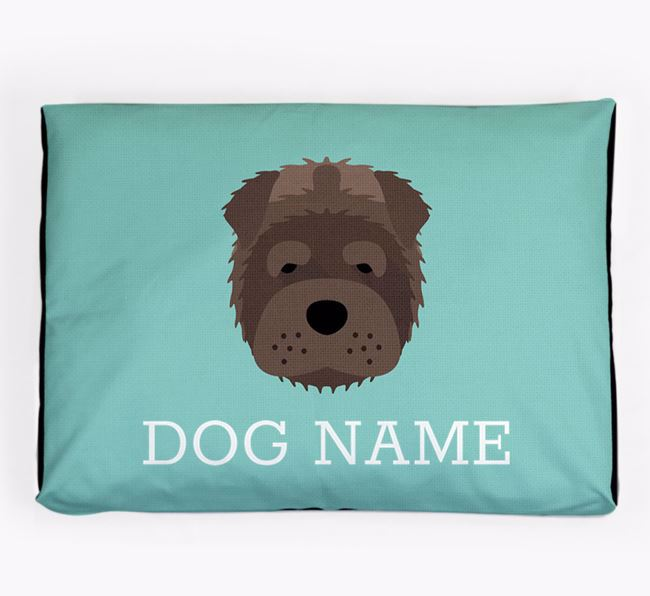 Personalised Icon Dog Bed for your Shar Pei