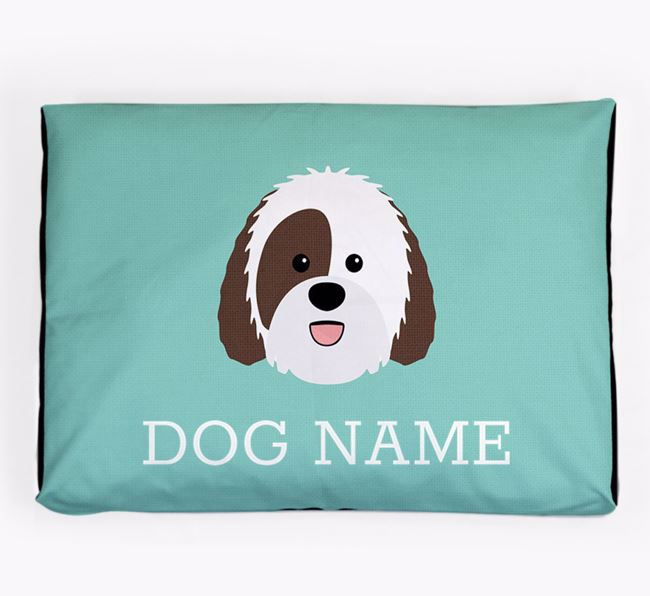 Personalised Icon Dog Bed for your Sheepadoodle