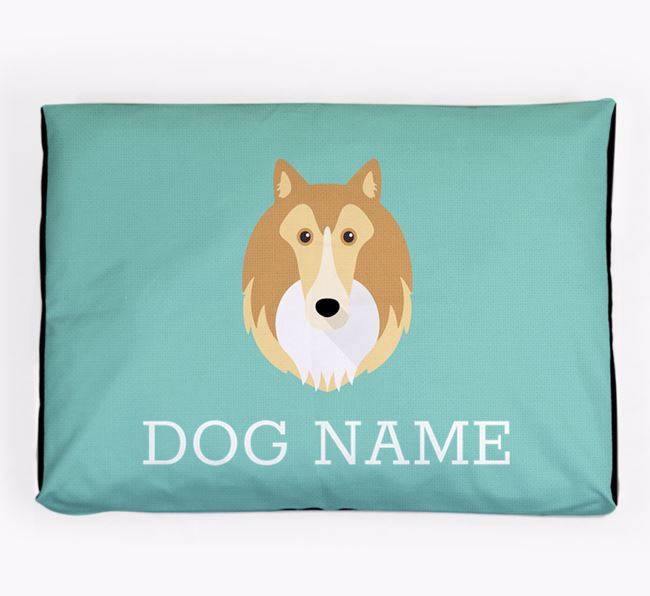 Personalised Icon Dog Bed for your Shetland Sheepdog