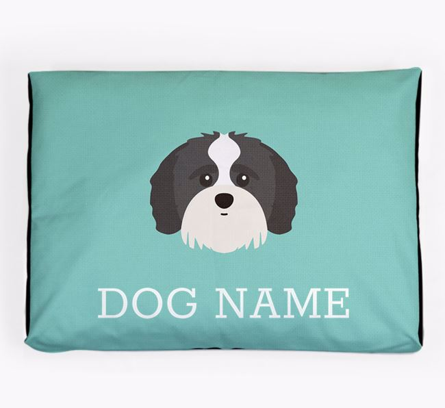 Personalised Icon Dog Bed for your Shih-poo