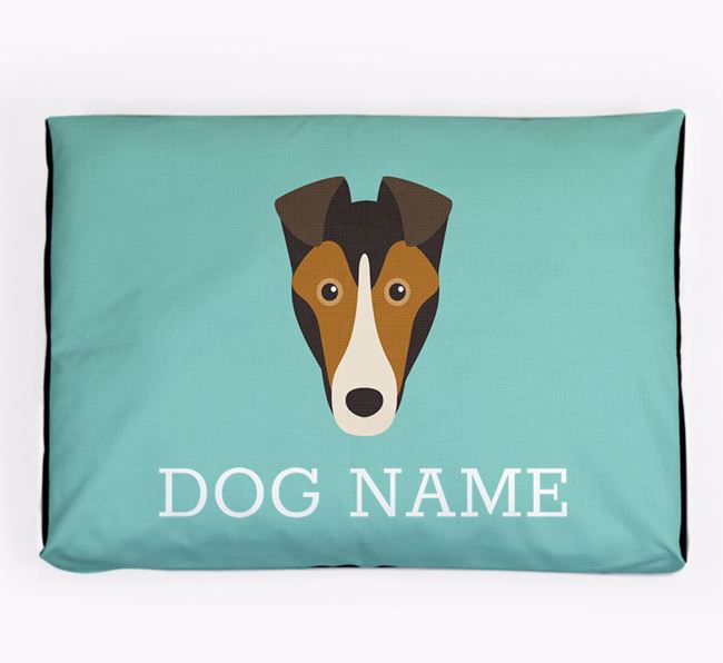 Personalised Icon Dog Bed for your Smooth Collie