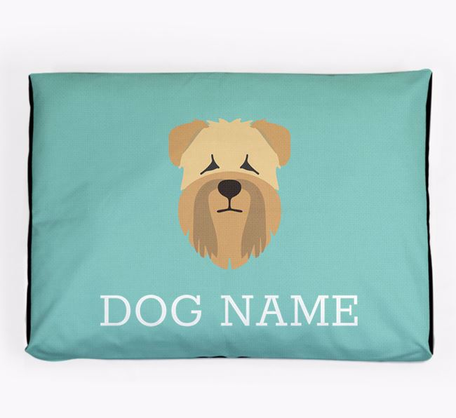 Personalised Icon Dog Bed for your Soft Coated Wheaten Terrier