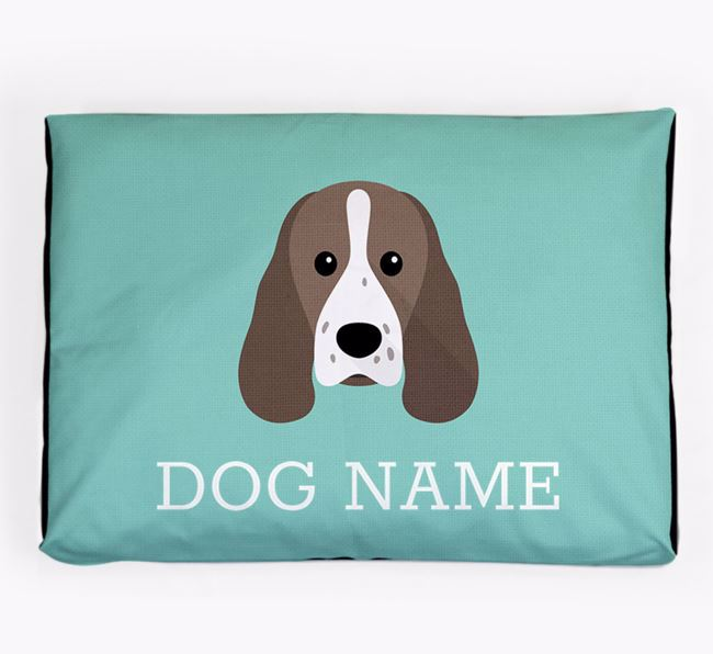 Personalised Icon Dog Bed for your Sprocker