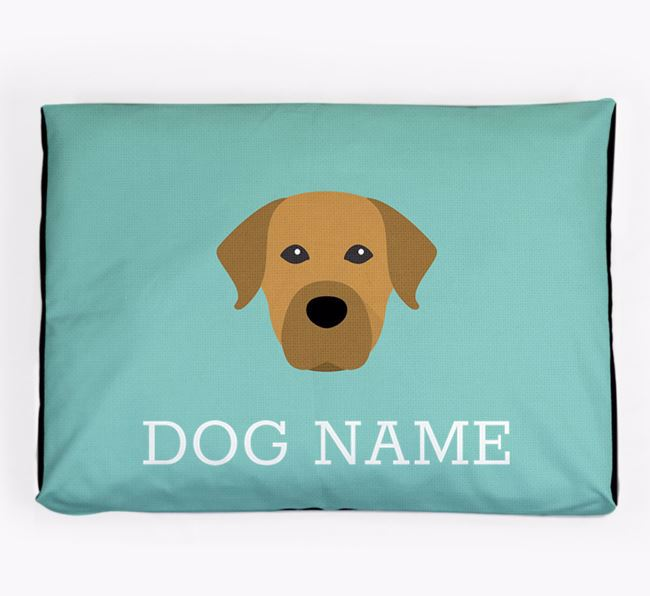 Personalised Icon Dog Bed for your Staffador