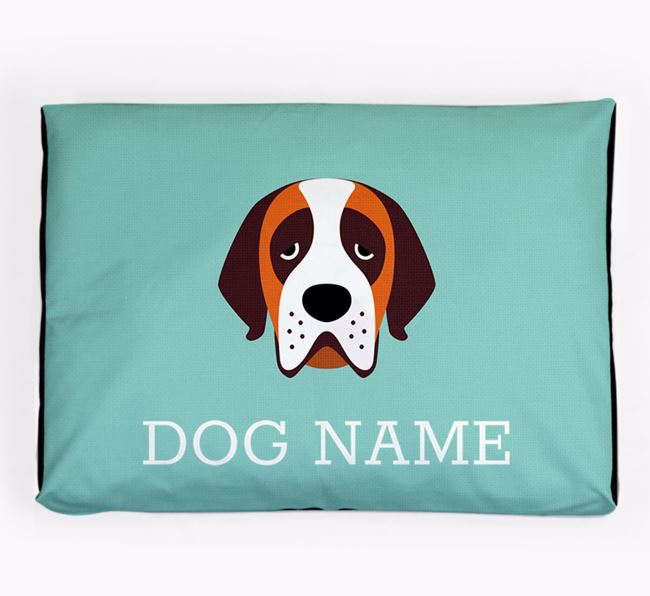 Personalised Icon Dog Bed for your St. Bernard