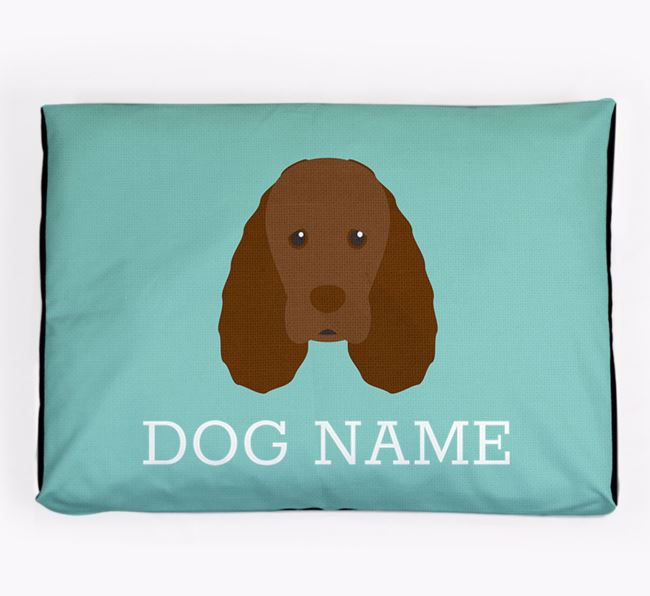 Personalised Icon Dog Bed for your Sussex Spaniel