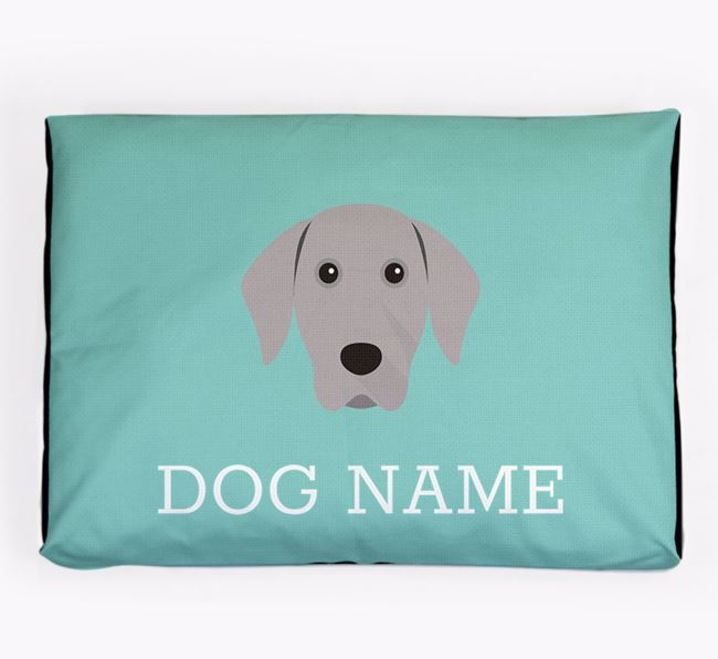 Personalised Icon Dog Bed for your Weimaraner