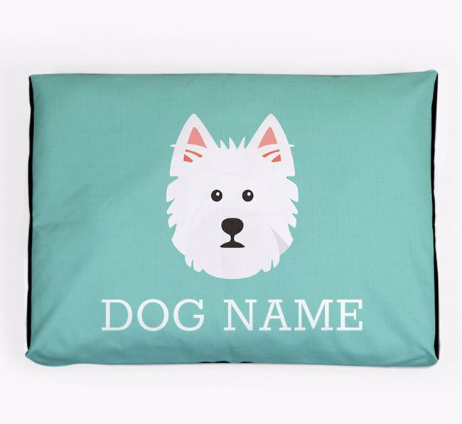 Personalised Icon Dog Bed for your West Highland White Terrier