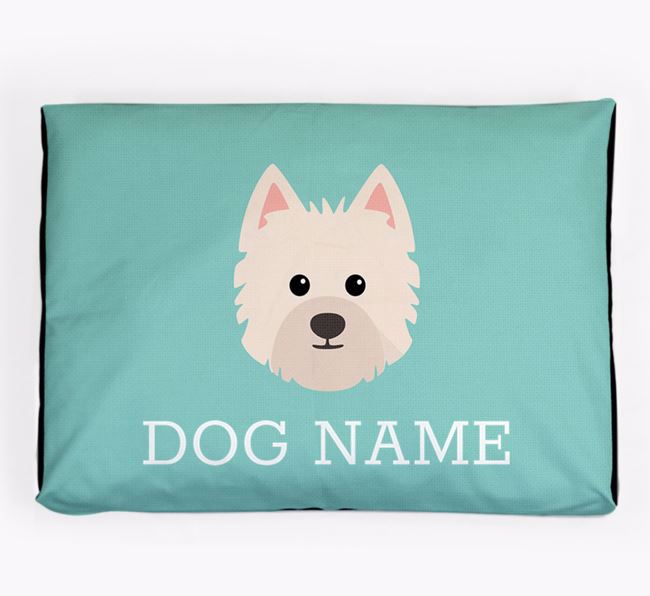 Personalised Icon Dog Bed for your Westiepoo