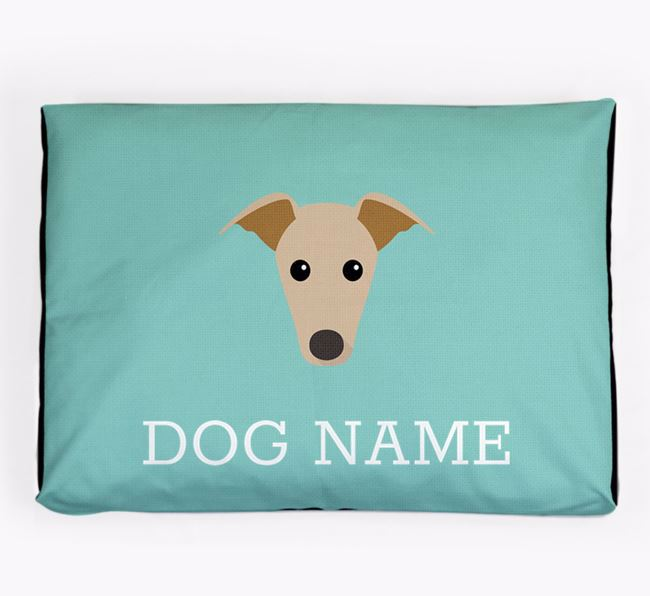 Personalised Icon Dog Bed for your Whippet