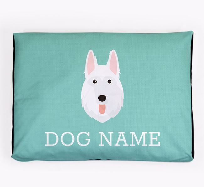 Personalised Icon Dog Bed for your White Swiss Shepherd Dog