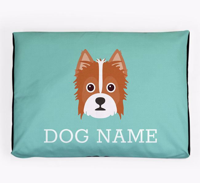 Personalised Icon Dog Bed for your Yorkie Russell