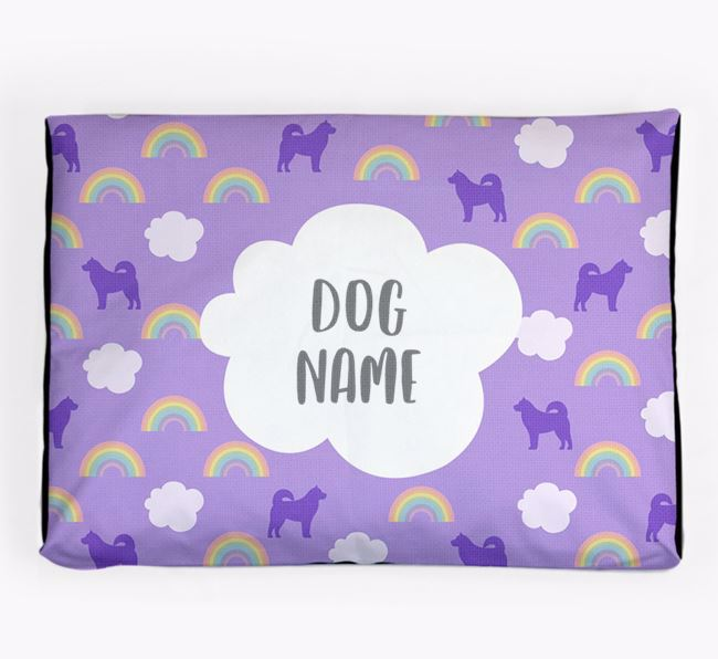 Personalised 'Rainbow' Dog Bed for your Alaskan Malamute