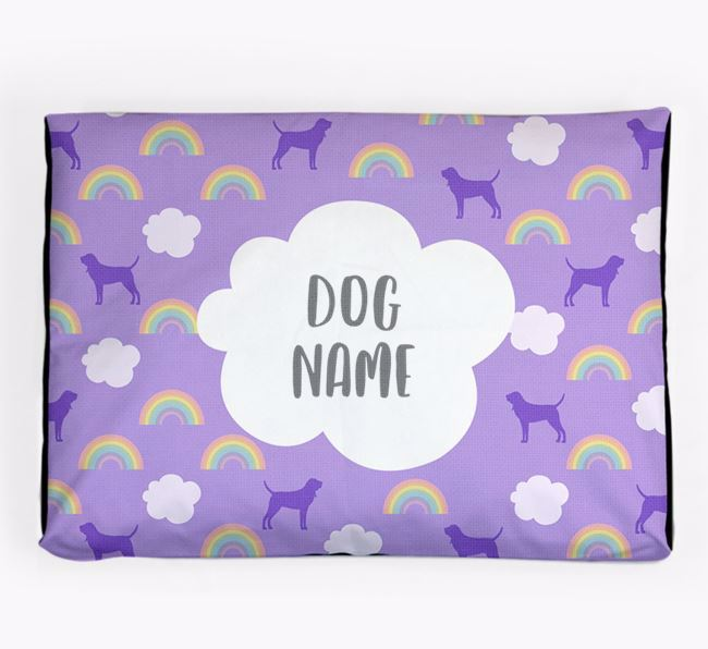 Personalised 'Rainbow' Dog Bed for your Bloodhound