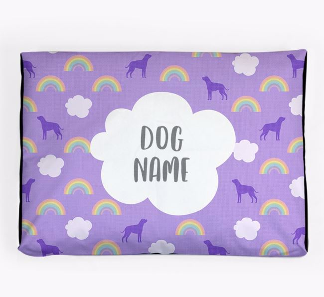 Personalised 'Rainbow' Dog Bed for your Boxador