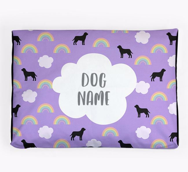 Personalised 'Rainbow' Dog Bed for your Irish Doodle