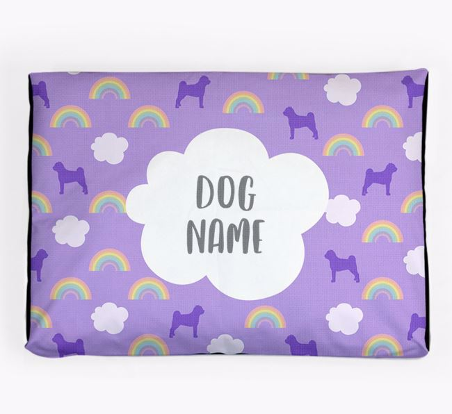 Personalised 'Rainbow' Dog Bed for your Jug