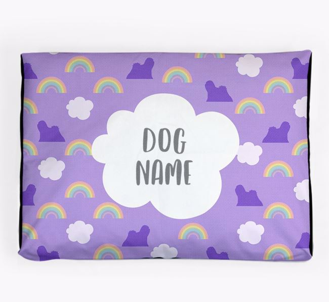 Personalised 'Rainbow' Dog Bed for your Lhasa Apso