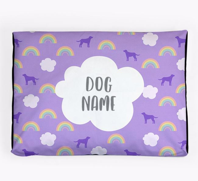 Personalised 'Rainbow' Dog Bed for your New Zealand Huntaway