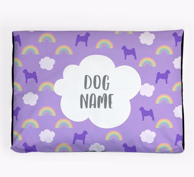 Personalised 'Rainbow' Dog Bed for your Pugapoo