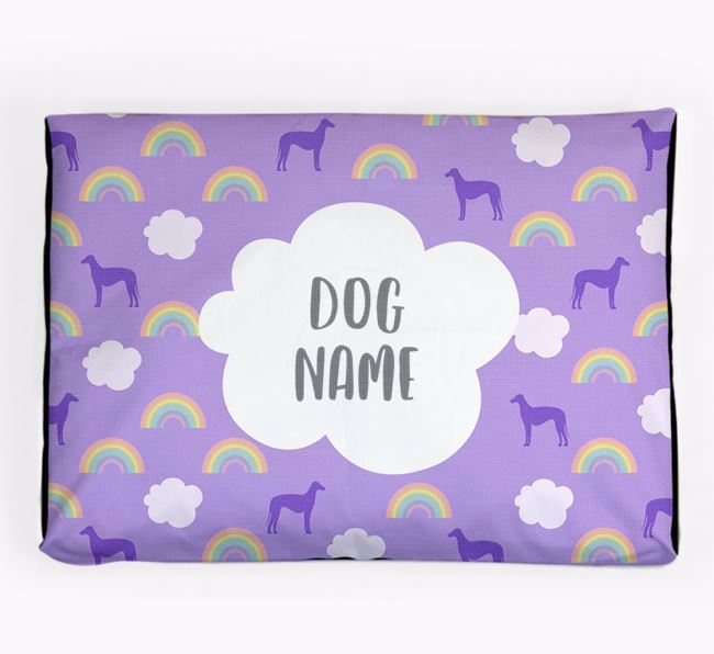 Personalised 'Rainbow' Dog Bed for your Sloughi