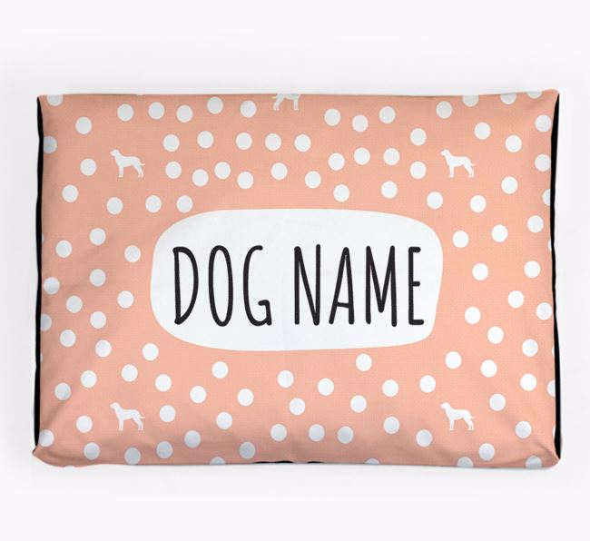 Personalised 'Polka Dot' Dog Bed for your Dog